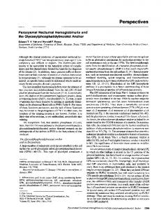 Paroxysmal nocturnal hemoglobinuria and the ...