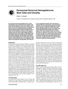 Paroxysmal Nocturnal Hemoglobinuria: Stem Cells and ... - CiteSeerX