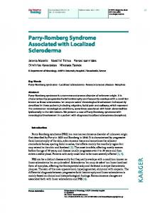Parry-Romberg Syndrome Associated with ... - Semantic Scholar
