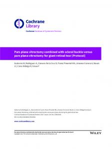 Pars plana vitrectomy combined with scleral buckle ... - Cochrane Library