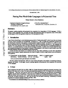 Parsing Free Word-Order Languages in Polynomial Time