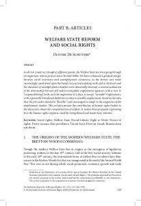 part b: articles welfare state reform and social rights