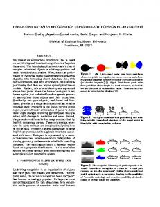 PART-BASED BAYESIAN RECOGNITION USING ... - Semantic Scholar