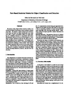 Part-Based Statistical Models for Object Classification and Detection