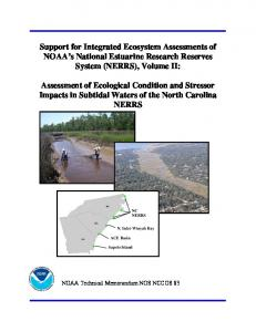 Part II: Assessment of Ecological Condition and ... - Aquatic Commons