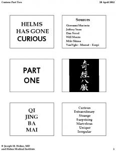 PART ONE - Helms Medical Institute