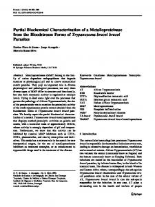 Partial Biochemical Characterization of a ... - Springer Link