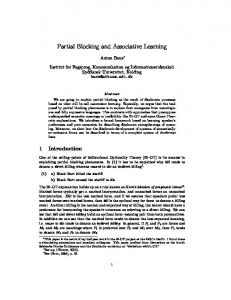 Partial Blocking and Associative Learning - Semantic Scholar
