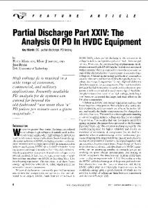 Partial Discharge Part XXIV: The Analysis Of PD HVDC Equipment ...