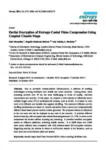 Partial Encryption of Entropy-Coded Video Compression Using ... - MDPI