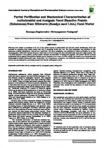 Partial Purification and Biochemical Characterization of Antimicrobial ...