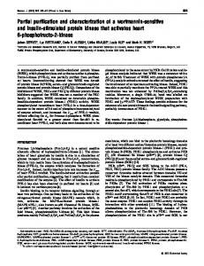 Partial purification and characterization of a wortmannin ... - Europe PMC