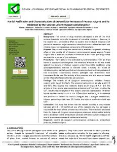Partial Purification and Characterization of ... - Allied Academies