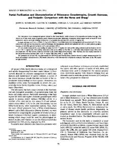 Partial Purification and Characterization of Rhinoceros Gonadotropins