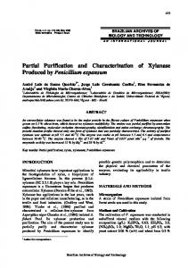 Partial Purification and Characterization of Xylanase ... - SciELO