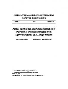 Partial Purification and Characterization of
