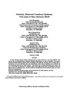 Partially Observed Inventory Systems: The Case of