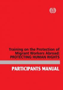 participants manual - International Labour Organization
