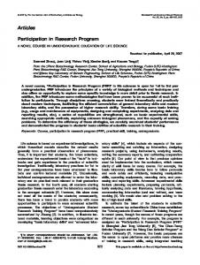 Participation in research program - Wiley Online Library