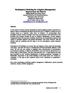 Participatory Modeling for Adaptive Management - System Dynamics ...