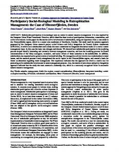 Participatory Social-Ecological Modeling in Eutrophication Management