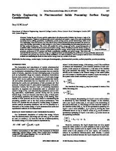 Particle Engineering in Pharmaceutical Solids ... - Semantic Scholar
