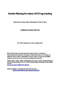 Particle filtering for indoor RFID tag tracking - Semantic Scholar