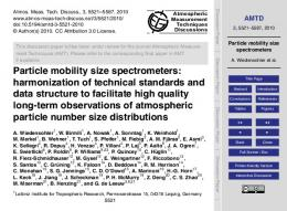 Particle mobility size spectrometers