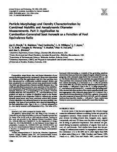Particle Morphology and Density Characterization