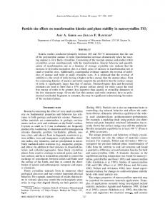 Particle size effects on transformation kinetics and phase stability in ...