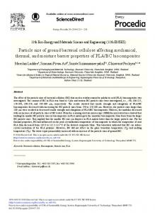 Particle Size of Ground Bacterial Cellulose Affecting ... - Core