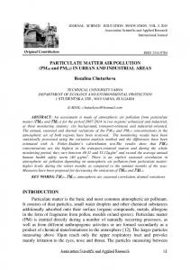 PARTICULATE MATTER AIR POLLUTION (PM10 and PM2.5) IN