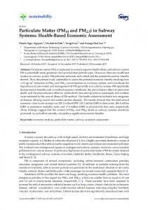 Particulate Matter (PM10 and PM2.5) in Subway Systems: Health