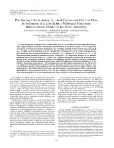 Partitioning Effects during Terminal Carbon and Electron Flow in ...