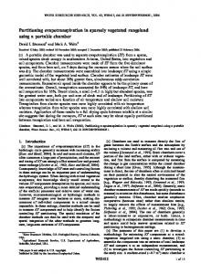 Partitioning evapotranspiration in sparsely ... - Wiley Online Library