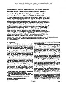 Partitioning the effects of pine plantations and ... - Wiley Online Library