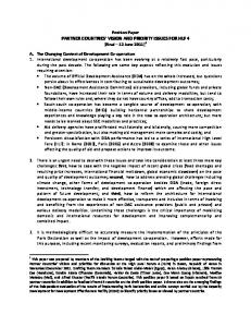 Partner Country Position Paper