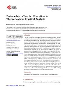 Partnership in Teacher Education - Scientific Research Publishing