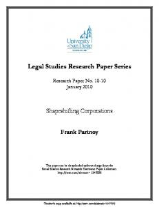 Partnoy Final - SSRN papers