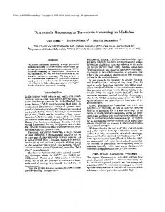 Partonomic Reasoning as Taxonomic Reasoning in Medicine