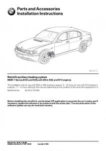 Parts and Accessories Installation Instructions
