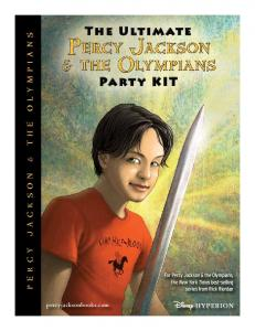 Party Kit - Percy Jackson and the Olympians