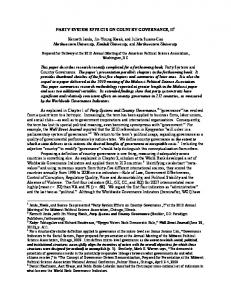 PARTY SYSTEM EFFECTS ON COUNTRY ... - SSRN papers
