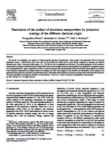 Passivation of the surface of aluminum nanopowders by protective ...