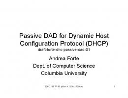 Passive DAD for Dynamic Host Configuration Protocol (DHCP)