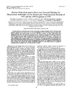 Passive Protection against Rotavirus-Induced Diarrhea by Monoclonal ...