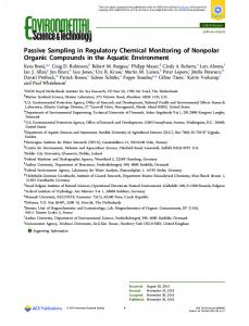 Passive Sampling in Regulatory Chemical ... - ACS Publications