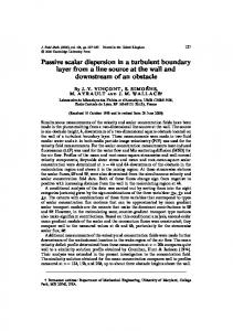 Passive scalar dispersion in a turbulent boundary