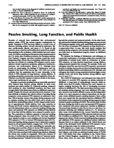 Passive Smoking, Lung Function, and Public Health - ATS Journals