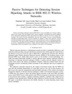 Passive Techniques for Detecting Session Hijacking ... - CiteSeerX